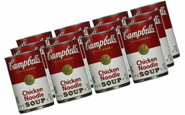 -15 CAMPBELL'S CHICKEN NOODLE SOUP 10 OUNCE CANS, Fast Priority Shipping   - $45.00