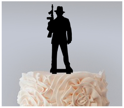 Decorations Birthday Cake topper,Cupcake topper,silhouette gangster : 11 pcs - $20.00