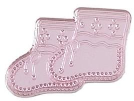 Booties Acrylic Charm-Pink - $9.85