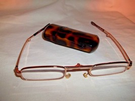 BIJOUX TERNER FOLDING PURSE EYE GLASSES FAUX TORTOISE SHELL - $9.99