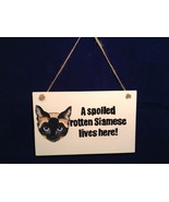 NEW Elfworks Lane Square Siamese Cat Hanging Sign Made in USA - $24.74