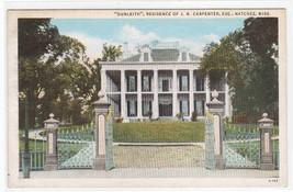Dunleith J N Carpenter Residence Natchez Mississippi postcard - $5.94