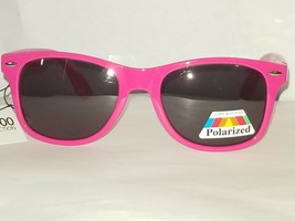 Way Cool Bright Neon Pink Glare Block Polarized Sunglasses w Spring Hinges UV400 - $9.52