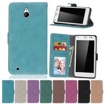 Lumia 850 Case,XYX [Blue][Scrub Series] PU Leather Flip Folio Kickstand ... - $4.94