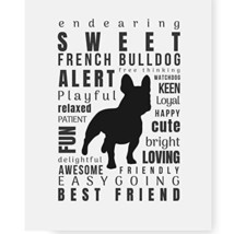 """Frenchie Gifts, French Bulldog Quote Art Print 8.5 x 11"""" Perfect Dog L... - $18.70"""