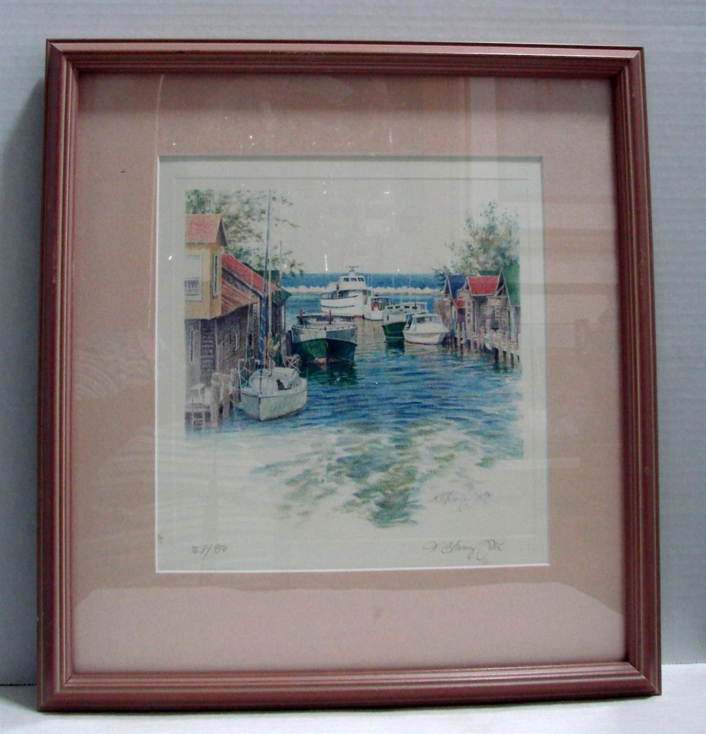 "Primary image for Kathleen Chaney Fritz The Michigan Collection Original Print ""Leland River"""