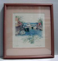 "Kathleen Chaney Fritz The Michigan Collection Original Print ""Leland River"" - $45.00"