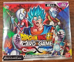 Dragon Ball Super Series 3 Boosters Cross Worlds Sealed Box - $61.70