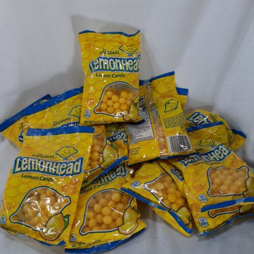 Primary image for Lot Of 15 Original Lemonhead Lemon Candy 5.5oz Bags Fat Free Gluten Free 5.25 Lb