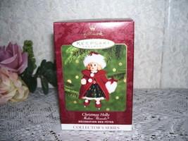 HALLMARK ORNAMENT MADAME ALEXANDER CHRISTMAS HOLLY MIB - $15.98