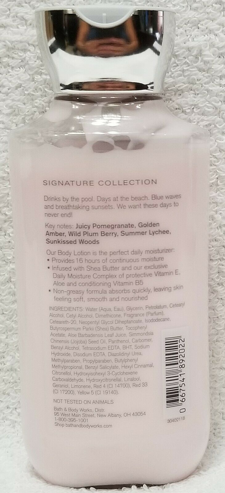 Bath Body Works SWEET SUMMER SUNSET Shea Vitamin E Body Lotion 8 oz/236mL New