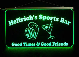 Custom LED Sign, Man cave sign with Beer Mug and Martini Glass - Home Bar image 6