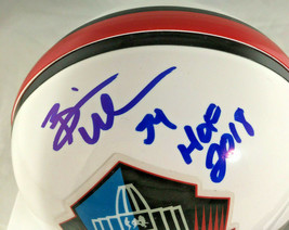 BRIAN URLACHER / NFL HALL OF FAME / AUTOGRAPHED HALL OF FAME MINI HELMET / COA image 2