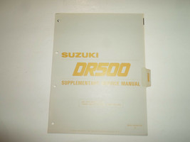 1983 Suzuki DR500 Ergänzende Service Manuell Locker Blatt Fabrik OEM Buc... - $14.03