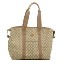 GUCCI GG PVC Leather Boston Bag Brown Auth sa2238 - $398.00
