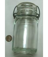 VTG Hazel Atlas 8oz 17-K 444 1902-1964 Clear Canning Fruit Jar, Wire Cla... - $54.62
