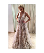 Sexy Deep V Neck Cut Low Long Prom Dresses Evening Dress - $119.99+