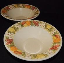 2 Della Robbia Metlox Poppytrail Soup Bowls 354235 Vernon Ware 1975 USA CA - $24.74