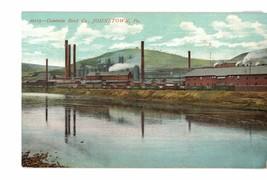 Old postcard. Cambria Steel Co, Johnstown, Pennsylvania. 1909. - $5.00