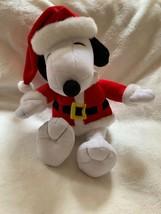 "Hallmark Peanuts Snoopy Santa Claus 15"" Plush Christmas Xmas Doll Pre-owned - $19.79"