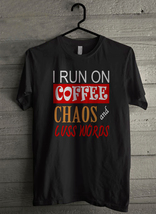 I run on coffee chaose cuss words - Custom Men's T-Shirt (4142) - $19.13+
