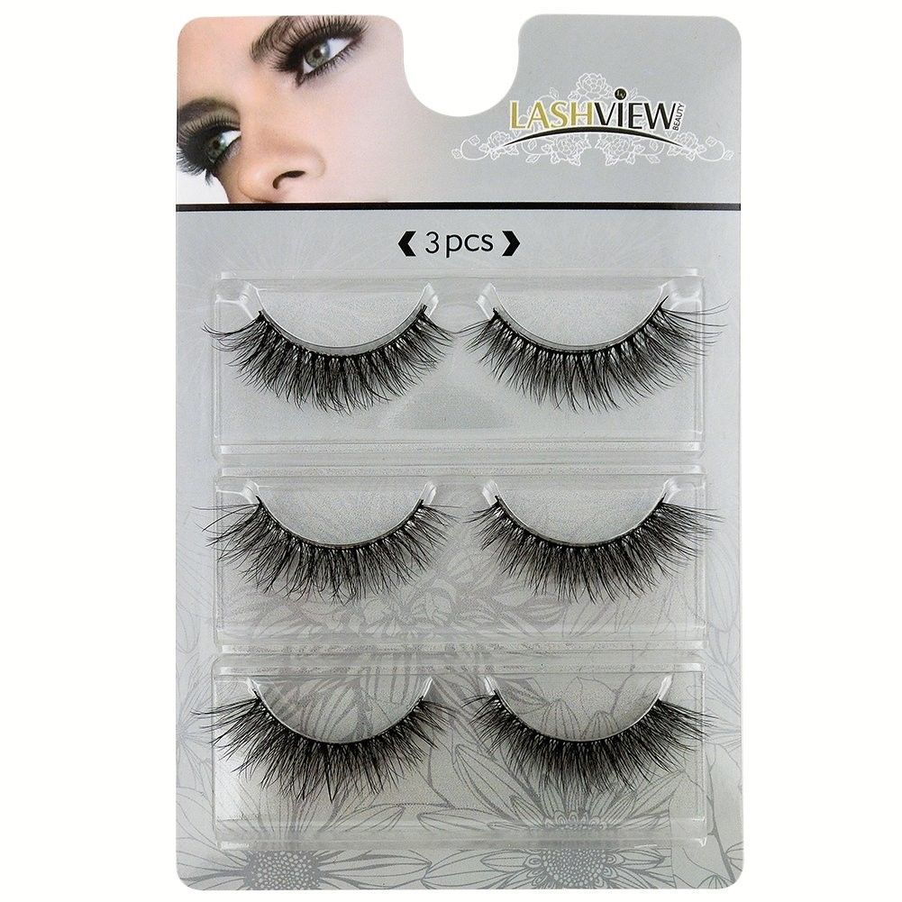 Primary image for LASHVIEW 3D False Eyelashes Handmade Dramatic Eyelashes Thick Natural Fake Eyela