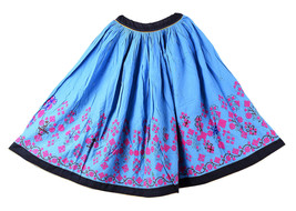 Indian Vintage Embroidered Handmade Cotton Waist Skater Banjara Rabari S... - €77,67 EUR