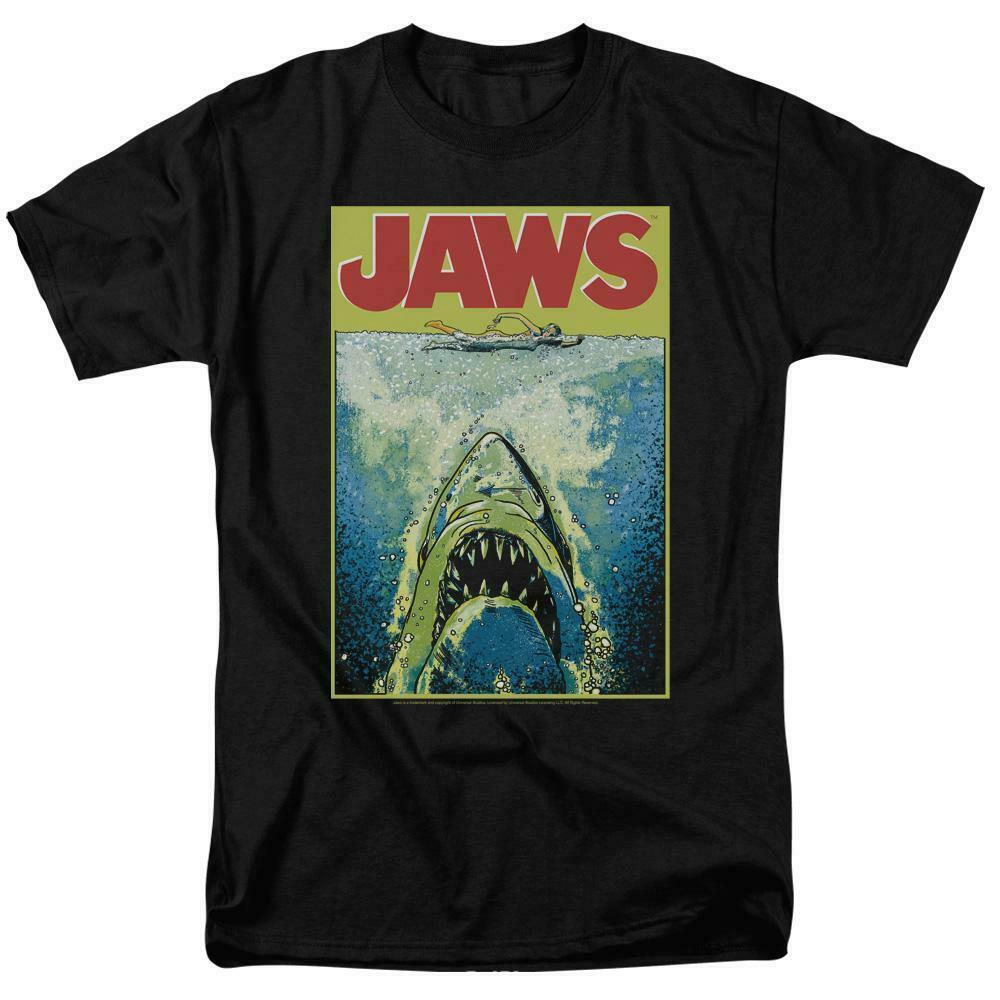 Jaws Movie Retro 70s 80s Amity Island Martin Brody graphic t-shirt UNI727