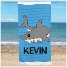 Personalized Gift Pool and Beach Shark Beach Towel Kids Summer Gifts PGU... - $24.90