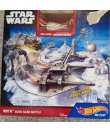 Play Set Mattel Hot Wheels Star Wars Starship Hoth Echo Base Battle - $0.99