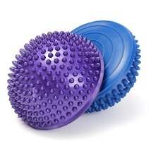 2 pcs Yoga Balance Spiky Massager Ball 16cm Half Round Stepping Foot Sol... - $40.90