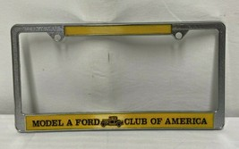 Model A Ford Club Of America License Plate Frame No. 33 Double Copy Header - $21.97