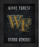 "Wake Forest Demon Deacons ""Retro College Logo Map"" 13x16 Framed Print  - $39.95"