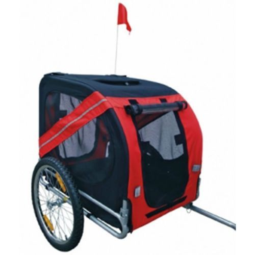 Red Folding Pet Cycling Bicycle Trailer Dog Cat Bike Carrier with Drawbar Hitch