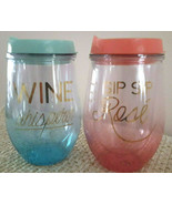 """Wine Tumblers Plastic (10.5oz) Approx. 6""""x3"""" - $10.95"""