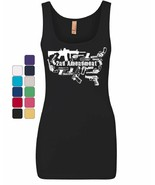 2nd Amendment US Silhouette Women's Tank Top Right to Bear Arms 2A Guns Top - $10.10 - $15.99