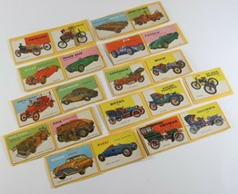 Vintage LOT of 1954 Topps WORLD ON WHEELS Car Cards on Scrapbooking Pape... - $11.69
