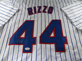 ANTHONY RIZZO / CHICAGO CUBS / AUTOGRAPHED CHICAGO CUBS CUSTOM JERSEY / COA image 1