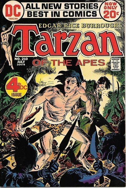 Primary image for Tarzan Comic Book #210 Fourth DC Comics Issue 1972 FINE-