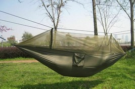 Outdoor Hammock Hanging Chair Bed Camping Double SleepingSwing Mosquito ... - $33.65+
