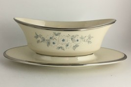 Lenox Windsong Gravy boat and attached under plate  - $150.00