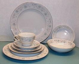 Vintage English Garden 8 Piece Place Setting -  Fine China #1221 - Japan - $27.23