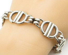 925 Sterling Silver - Vintage Large Polished Anchor Link Chain Bracelet ... - $136.09