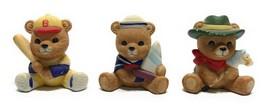 Vintage Set of 3 Homco #1417 Home Interior Bear Boy Costume Figurines Ceramic - $11.87