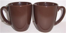 Vintage (2) Brown Color Corelle By Corning Collectible Stoneware Mug - $15.99