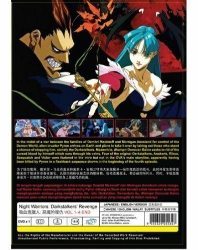 Night Warriors: Darkstalkers' Revenge (Vol.1-4 End) Anime DVD SHIP FROM USA