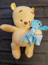 "Fisher Price My First Winnie The Pooh Plush Toy Teddy Bear Lovey Disney 10"" - $15.98"