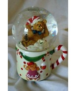 JC Penney Home Collection Musical Bear Mug Snow Globe - $10.70