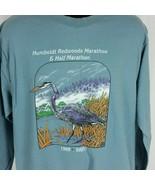 Humboldt Redwoods Marathon Mens L Blue Tee Shirt Long Sleeve T-Shirt 199... - $39.99