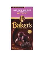 Baker's premium bittersweet chocolate baking bar 4oz - $9.00
